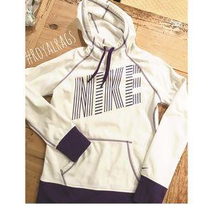 Nike Therafit white & Purple Pullover Hoodie